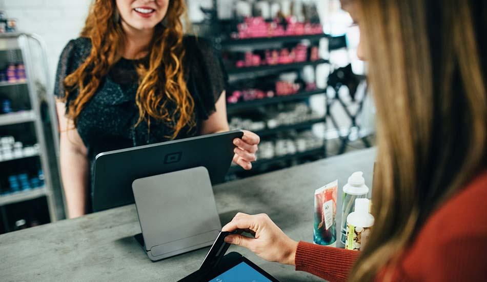 Customer Using Cash Register Machine